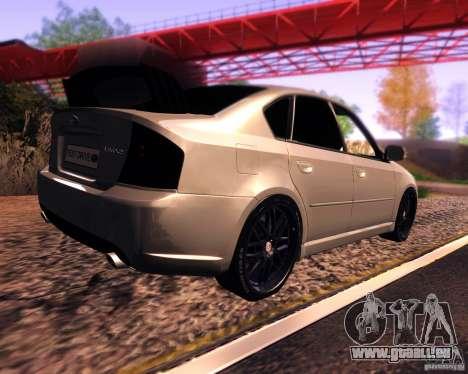 Subaru Legacy 3.0 R tuning v 2.0 für GTA San Andreas zurück linke Ansicht