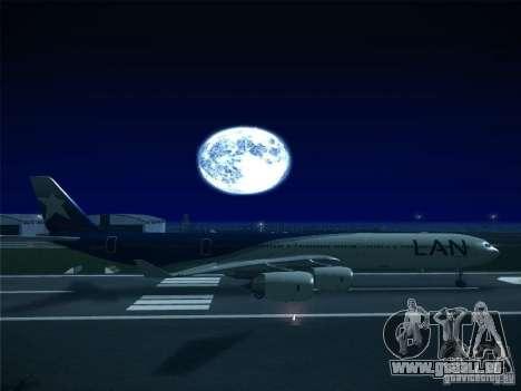 Airbus A340-600 LAN Airlines pour GTA San Andreas laissé vue