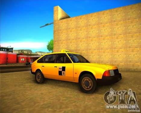 Taxi AZLK 2141 pour GTA San Andreas laissé vue
