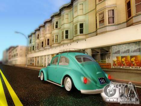 Volkswagen Beetle 1300 pour GTA San Andreas laissé vue