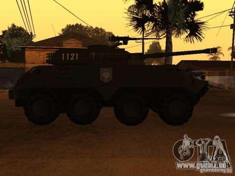 APC-60FSV pour GTA San Andreas vue intérieure