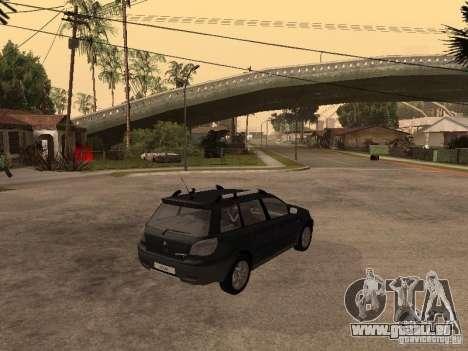 Mitsubishi Outlander 2003 für GTA San Andreas zurück linke Ansicht