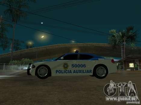 Dodge Charger Police für GTA San Andreas Rückansicht
