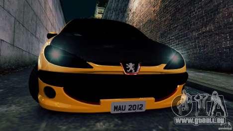Peugeot 206 für GTA 4 Rückansicht