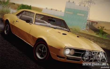 Pontiac Firebird 400 (2337) 1968 pour GTA San Andreas vue intérieure