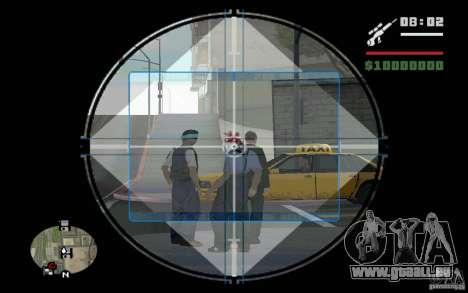 Sniper mod c. 2 pour GTA San Andreas deuxième écran