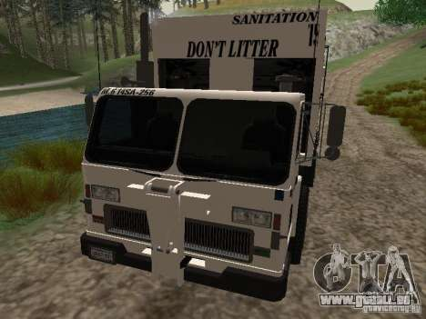 Camion à ordures de GTA 4 pour GTA San Andreas vue de côté
