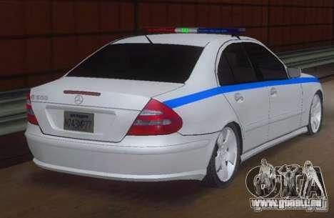 MERCEDES BENZ E500 w211 SE Police Russie pour GTA San Andreas laissé vue