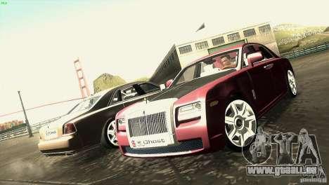 Rolls-Royce Ghost 2010 V1.0 pour GTA San Andreas vue intérieure