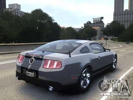 Shelby GT500 2010 pour GTA 4 est une gauche