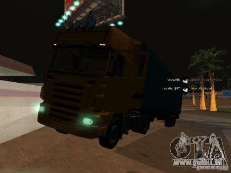 Scania R620 pour GTA San Andreas vue de dessous