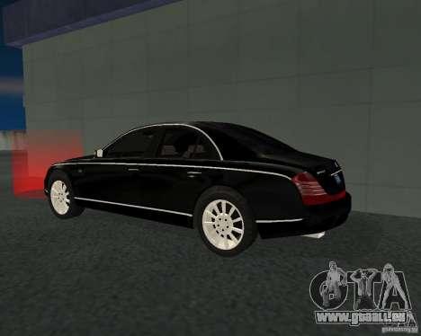 Maybach 57S für GTA San Andreas rechten Ansicht