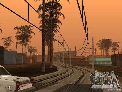 Haute vitesse de la ligne de chemin de fer pour GTA San Andreas deuxième écran