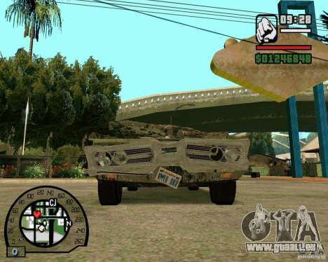 Plymouth Fury III pour GTA San Andreas vue arrière