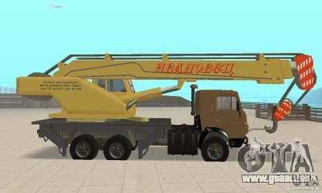 KAMAZ 53213 COP 4572 für GTA San Andreas zurück linke Ansicht