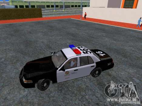 Ford Crown Victoria San Andreas State Patrol pour GTA San Andreas vue intérieure
