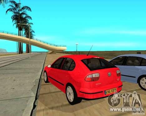 Seat Leon 1.9 TDI für GTA San Andreas zurück linke Ansicht
