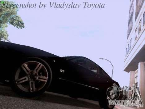 Ford Mustang GT 2011 Unmarked für GTA San Andreas Seitenansicht