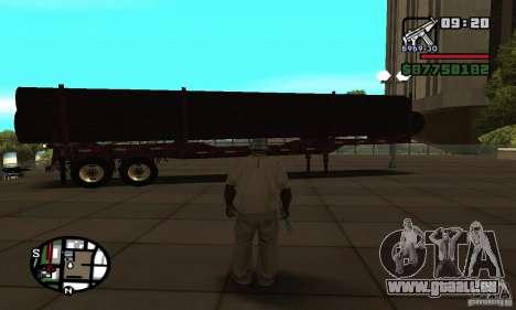 Semi artict2 pour GTA San Andreas sur la vue arrière gauche