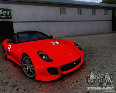 Ferrari 599 GTO 2011 v2.0 pour GTA San Andreas vue de dessous