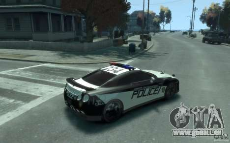 Nissan GT-R R35 Police für GTA 4 rechte Ansicht