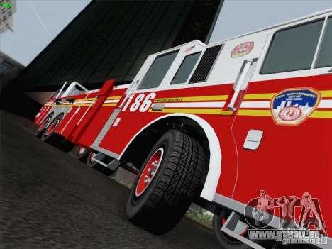 Seagrave Marauder. F.D.N.Y. Tower Ladder 186 pour GTA San Andreas salon
