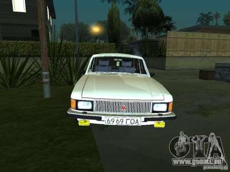 GAZ 3102 pour GTA San Andreas laissé vue