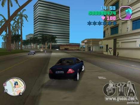 Mercedes-Benz E350 pour GTA Vice City sur la vue arrière gauche