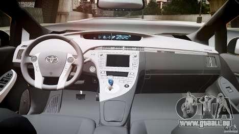 Toyota Prius LCC Taxi 2011 pour GTA 4 Vue arrière