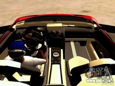 Lamborghini Reventon Roadster für GTA San Andreas Rückansicht