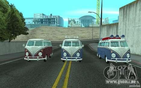 Volkswagen Transporter T1 SAMBAQ CAMPERVAN pour GTA San Andreas vue arrière