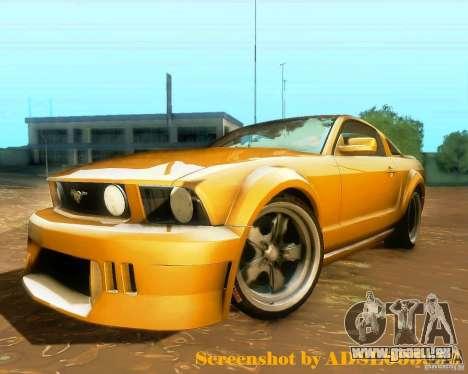 Ford Mustang GT 2005 Tunable für GTA San Andreas zurück linke Ansicht