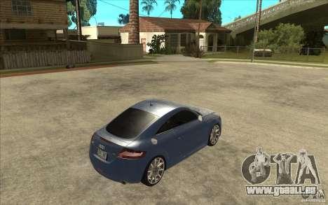 Audi TT 3.2 Coupe pour GTA San Andreas vue de droite