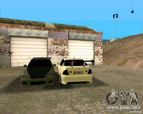 LEXUS IS300 Light tuned pour GTA San Andreas laissé vue