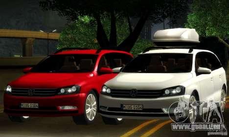 Volkswagen Passat B7 2012 für GTA San Andreas obere Ansicht