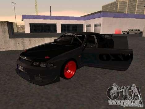 Nissan Skyline R33 für GTA San Andreas Innenansicht