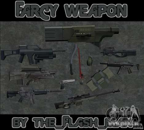 FarCry weapone pour GTA San Andreas