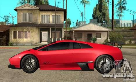 Lamborghini Gallardo LP570-4 SV pour GTA San Andreas laissé vue