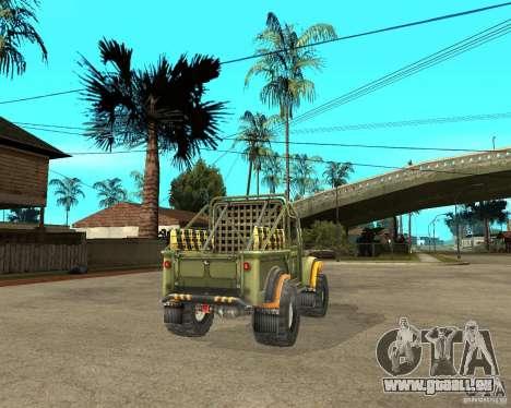 GAZ 69 Testversion für GTA San Andreas zurück linke Ansicht