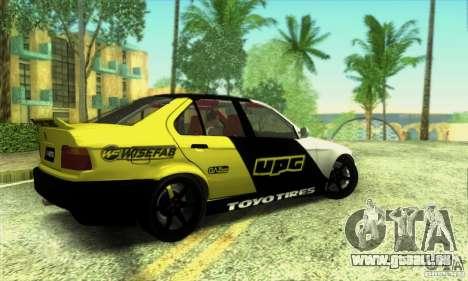 BMW E36 Urban Perfomance Garage pour GTA San Andreas laissé vue