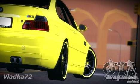 BMW M3 pour GTA San Andreas laissé vue