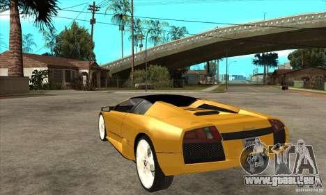 Lamborghini Murcielago Roadster Final für GTA San Andreas zurück linke Ansicht