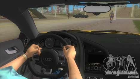 Audi R8 V10 TT Black Revel für GTA Vice City rechten Ansicht