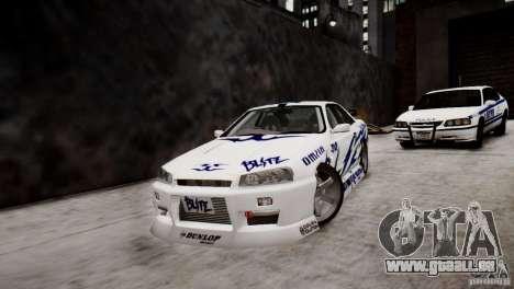 Nissan Skyline R-34 v1.0 für GTA 4