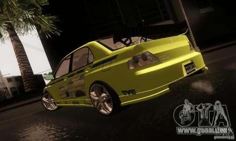 Mitsubishi Lancer Evolution 8 pour GTA San Andreas laissé vue