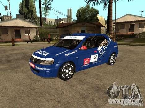 Dacia Logan Rally Dirt pour GTA San Andreas vue intérieure