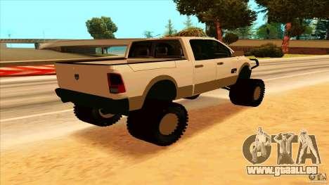Dodge Ram 2500 4x4 pour GTA San Andreas sur la vue arrière gauche