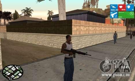 Windows 8 HUD pour GTA San Andreas deuxième écran