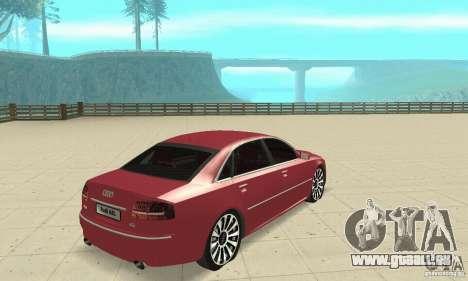 Audi A8L 4.2 FSI pour GTA San Andreas laissé vue