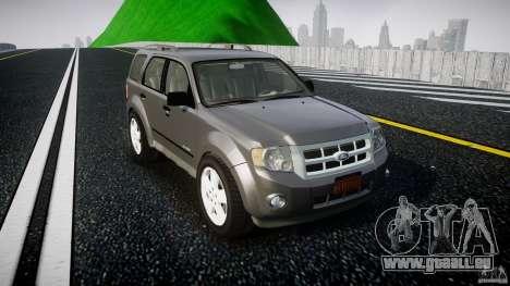 Ford Escape 2011 Hybrid Civilian Version v1.0 pour GTA 4 est une vue de l'intérieur